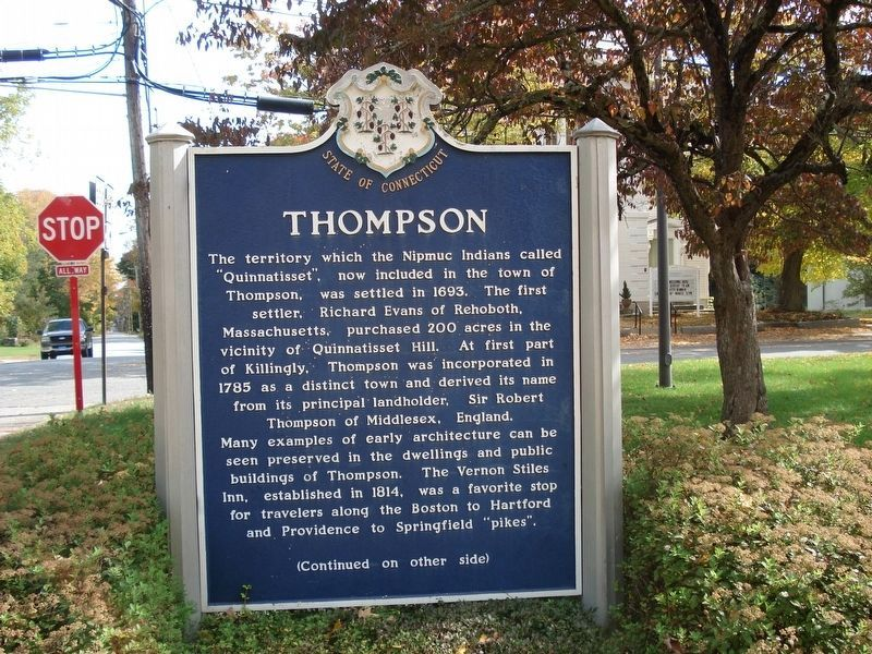Thompson Marker (Front) image. Click for full size.