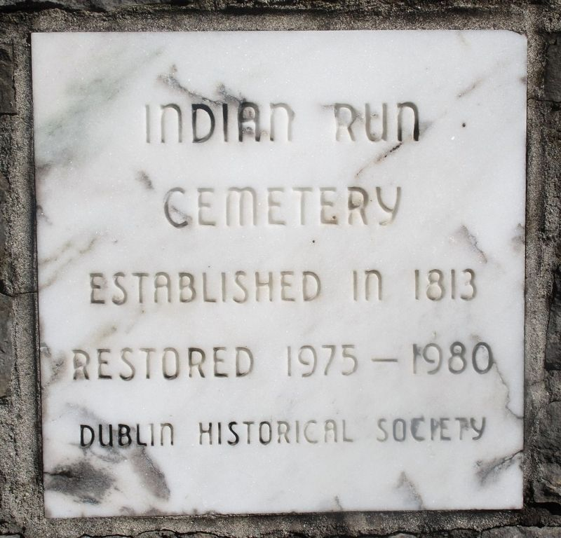Indian Run Cemetery Marker image. Click for full size.