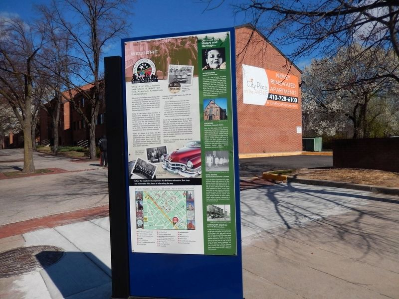 Take a Stroll Down the Main Street of the African American Experience Marker-Front Panel image. Click for full size.