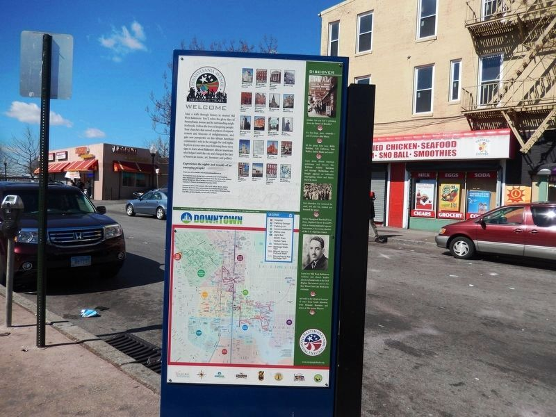 Take a Stroll Down the Main Street of the African American Experience Marker-Back Panel image. Click for full size.