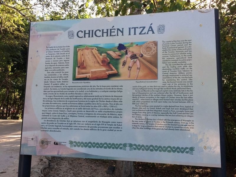 This marker near the entrance of Chichén Itzá provides an overview of the site. image. Click for full size.