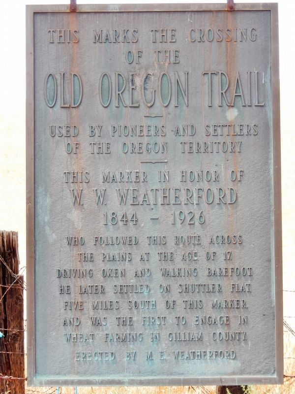 This Marks the Crossing of the Old Oregon Trail Marker image. Click for full size.