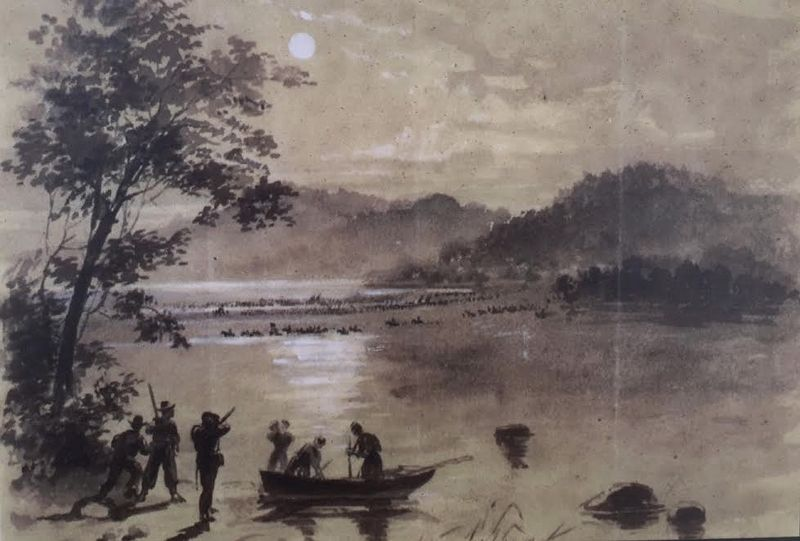"""Rebels Crossing the Potomac"" image. Click for full size."