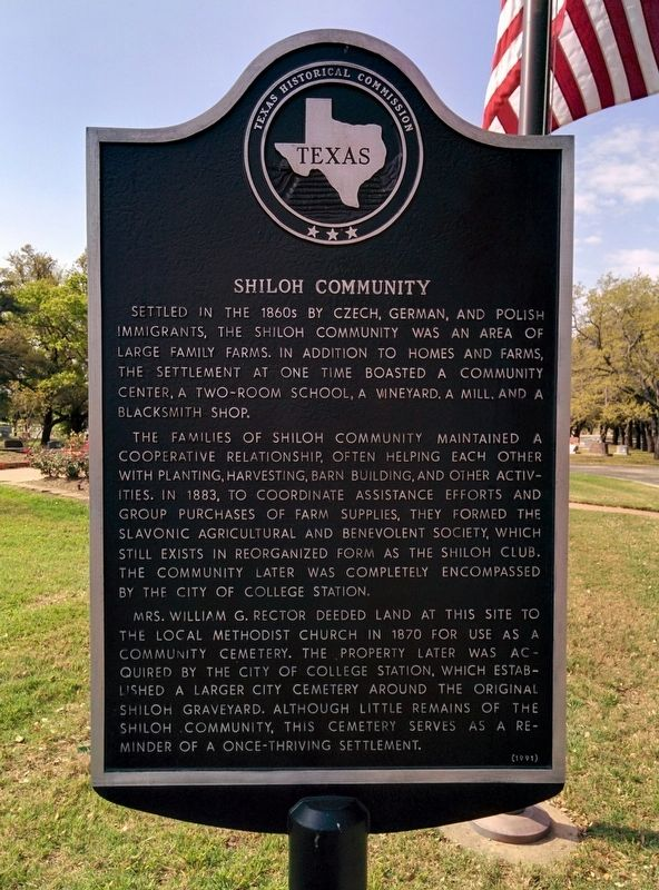 Shiloh Community Marker image. Click for full size.
