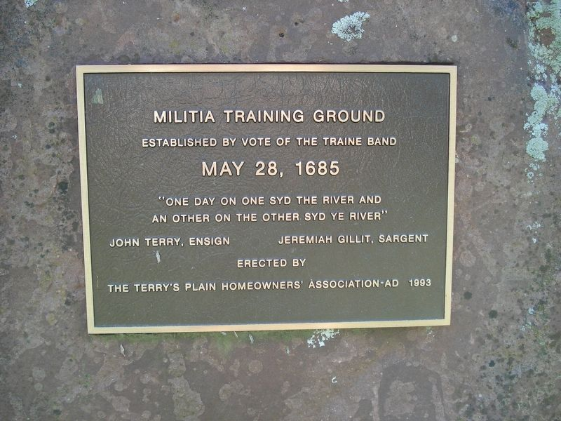 Militia Training Ground Marker image. Click for full size.