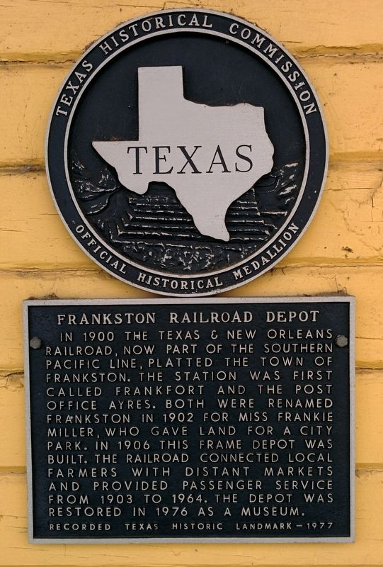 Frankston Railroad Depot Marker image. Click for full size.