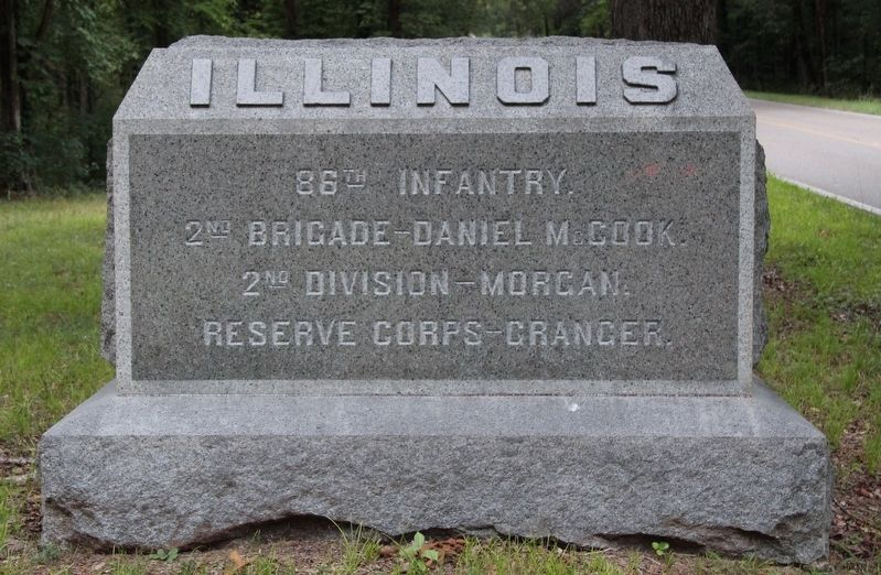 86th Illinois Infantry Marker image. Click for full size.