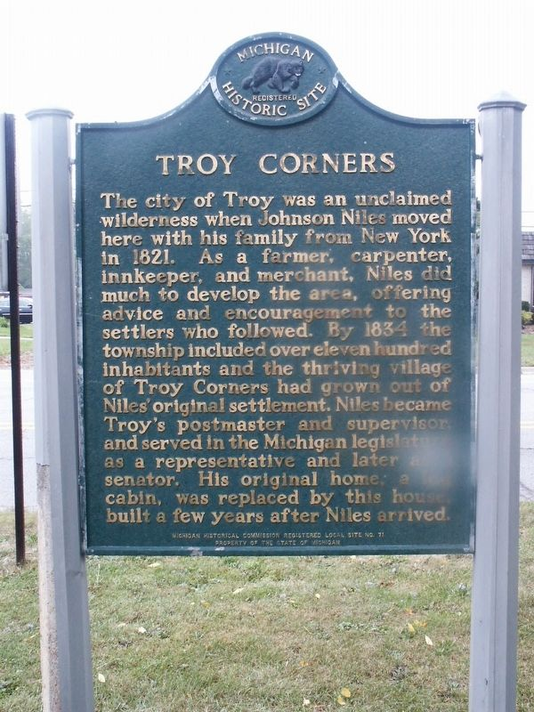 Troy Corners Marker image. Click for full size.