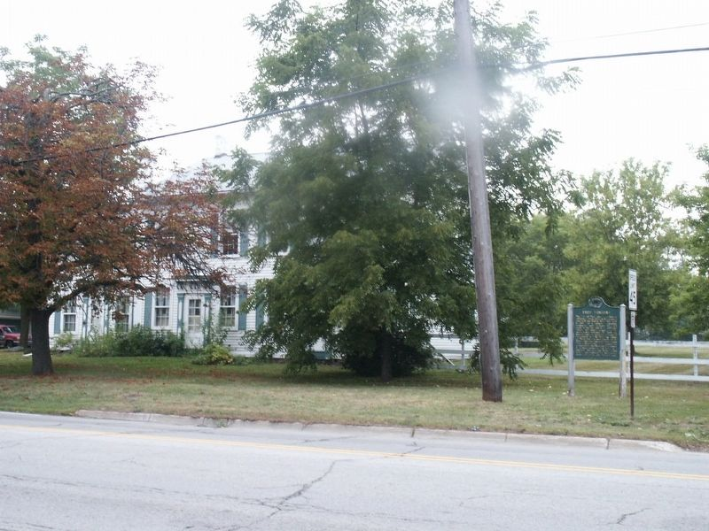 Troy Corners Marker and Niles House image. Click for full size.