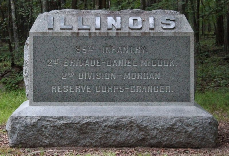 85th Illinois Infantry Regiment Marker image. Click for full size.