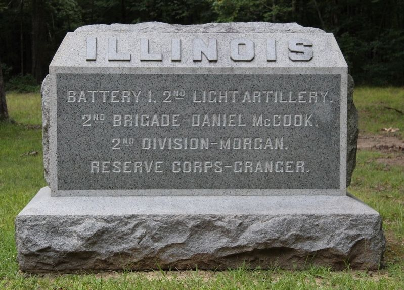 Battery I Second Illinois Light Artillery Marker image. Click for full size.