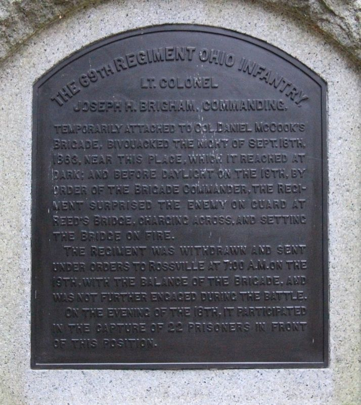 69th Ohio Infantry Regiment Marker image. Click for full size.