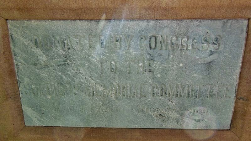 Cascade County Courthouse Cannon Placard image. Click for full size.