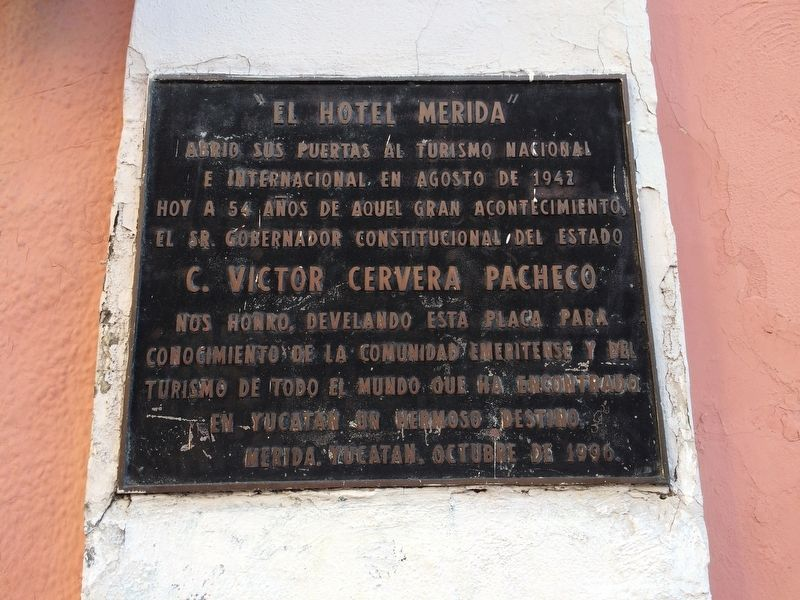 The Hotel Mérida Marker image. Click for full size.