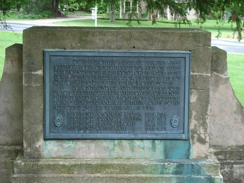 First Meeting House Marker image. Click for full size.