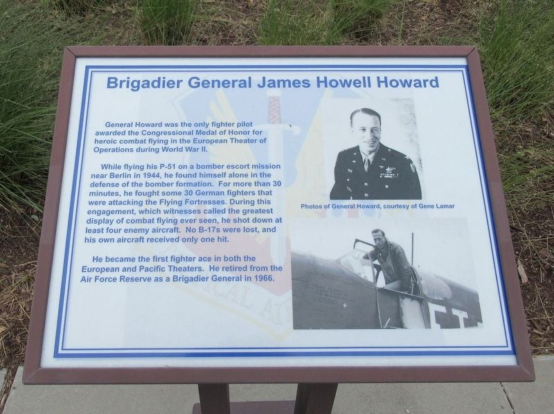 Brigadier General James Howell Howard Marker image. Click for full size.