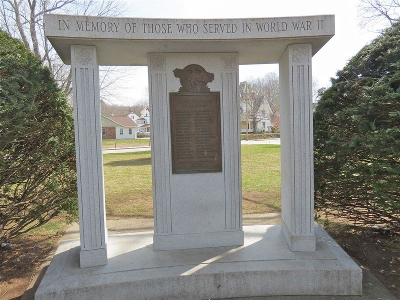 Killingly World War II Monument Marker image. Click for full size.