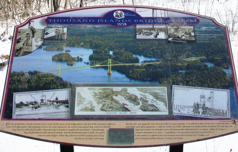 Thousand Islands Bridge System Marker image. Click for full size.