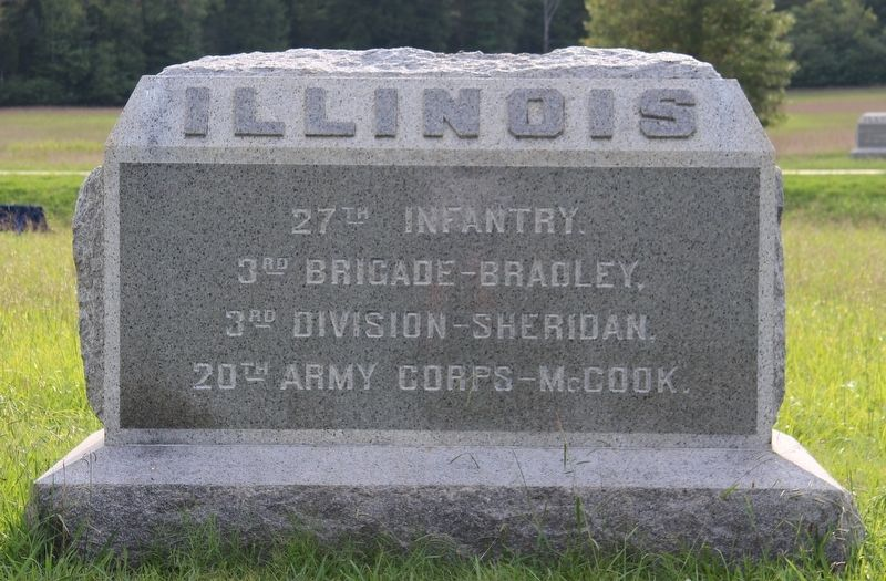 27th Illinois Infantry Marker image. Click for full size.