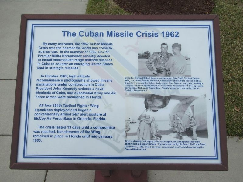 The Cuban Missile Crisis Marker image. Click for full size.