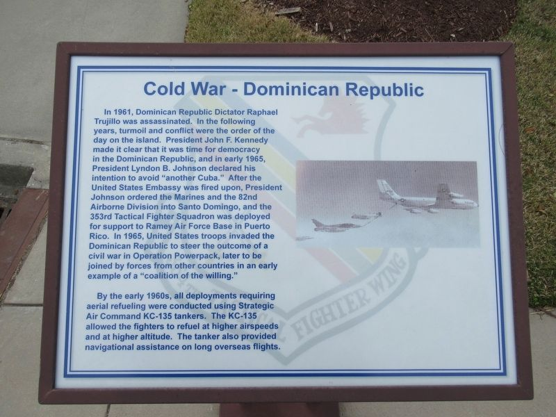 Cold War - Dominican Republic Marker image. Click for full size.