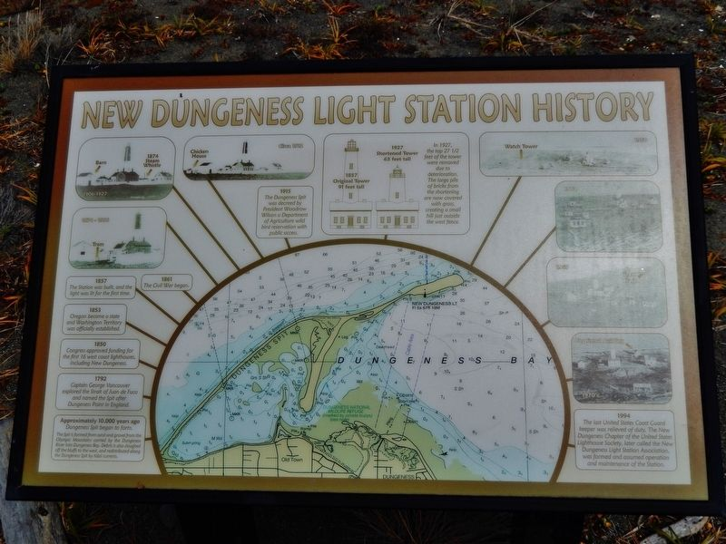 New Dungeness Light Station History Marker image. Click for full size.