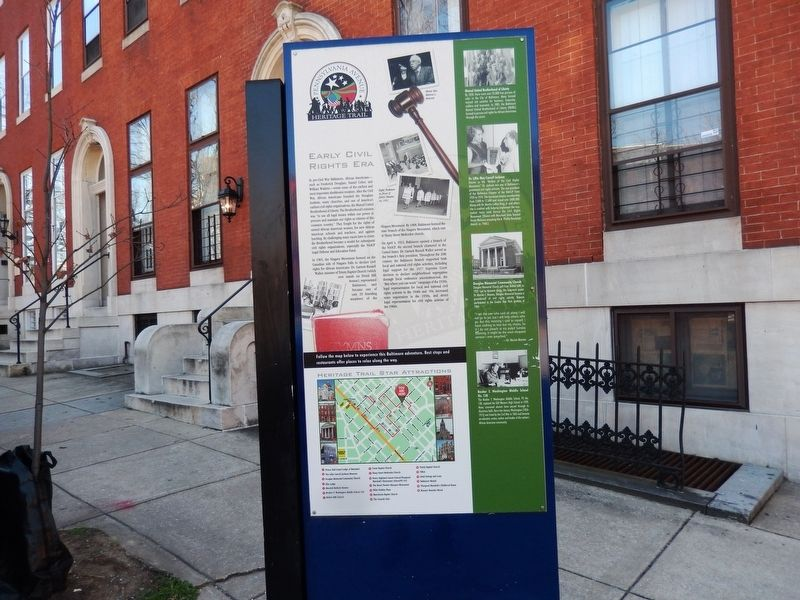 Early Civil Rights Era Marker-Front panel image. Click for full size.