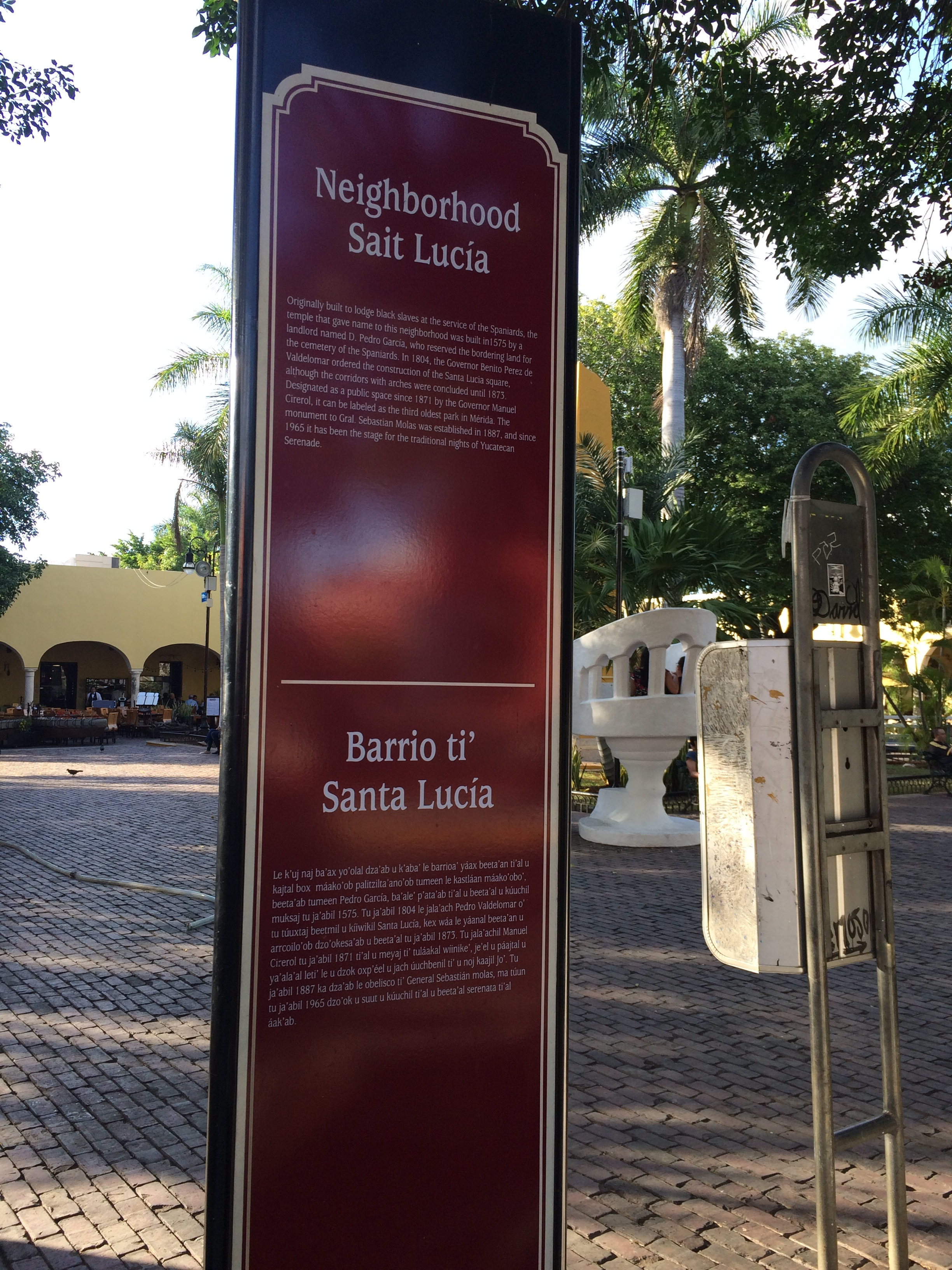 The Saint Lucia Neighborhood Marker