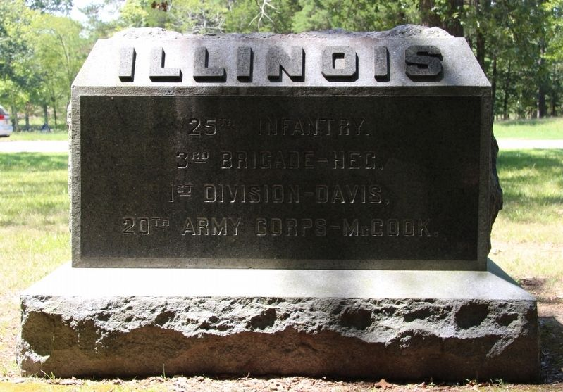 25th Illinois Infantry Marker image. Click for full size.