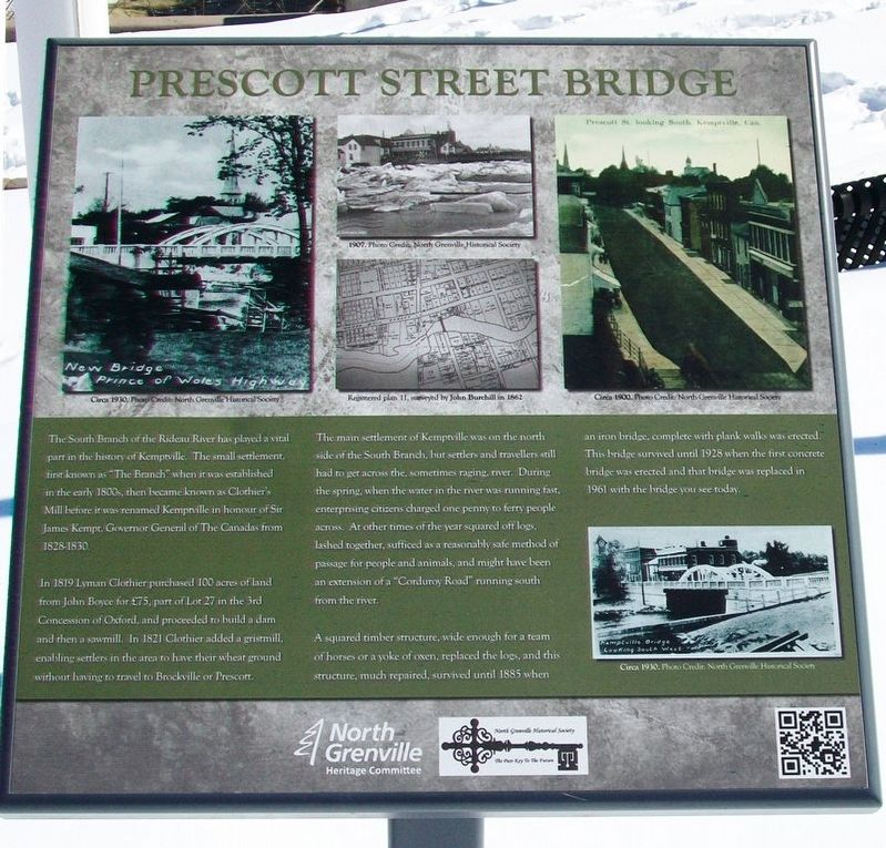 Prescott Street Bridge Marker image. Click for full size.