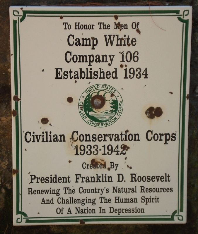 Camp White Marker image. Click for full size.