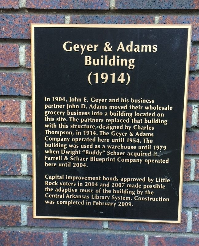 Geyer & Adams Building Marker image. Click for full size.