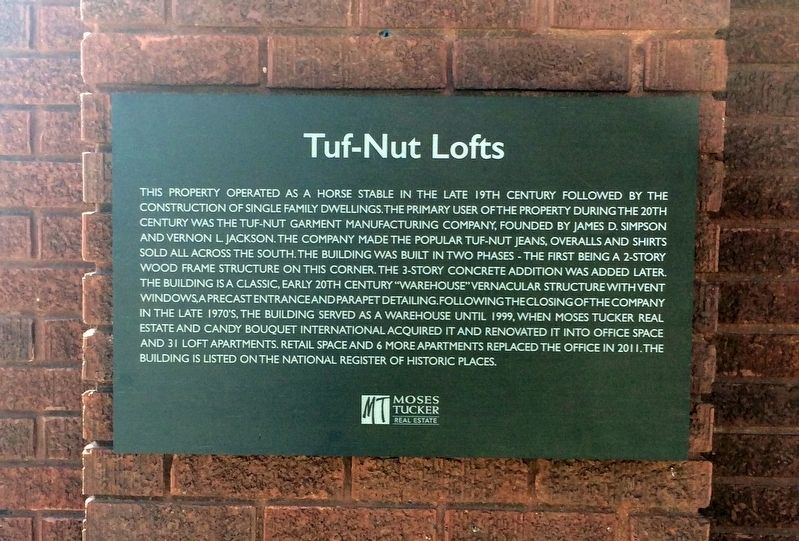 Tuf-Nut Lofts Marker image. Click for full size.