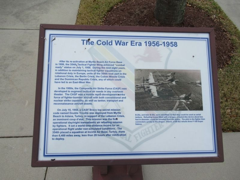The Cold War Era 1956 - 1958 Marker image. Click for full size.