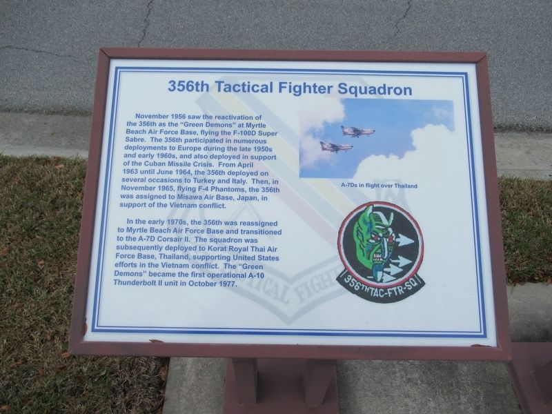 356th Tactical Fighter Squadron Marker image. Click for full size.