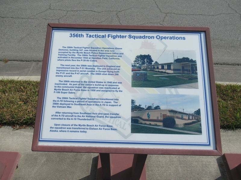 356th Tactical Fighter Squadron Operations Marker image. Click for full size.