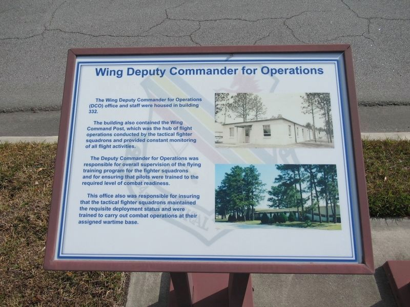 Wing Deputy Commander for Operations Marker image. Click for full size.