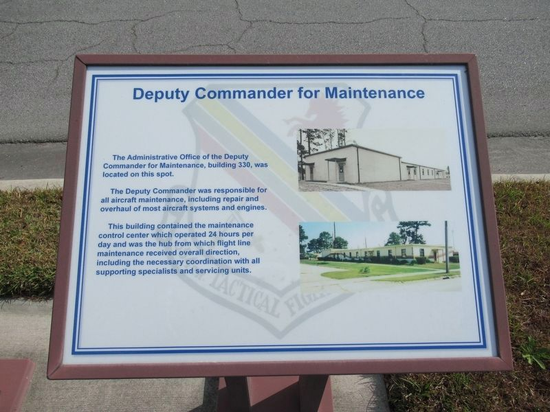 Deputy Commander for Maintenance Marker image. Click for full size.