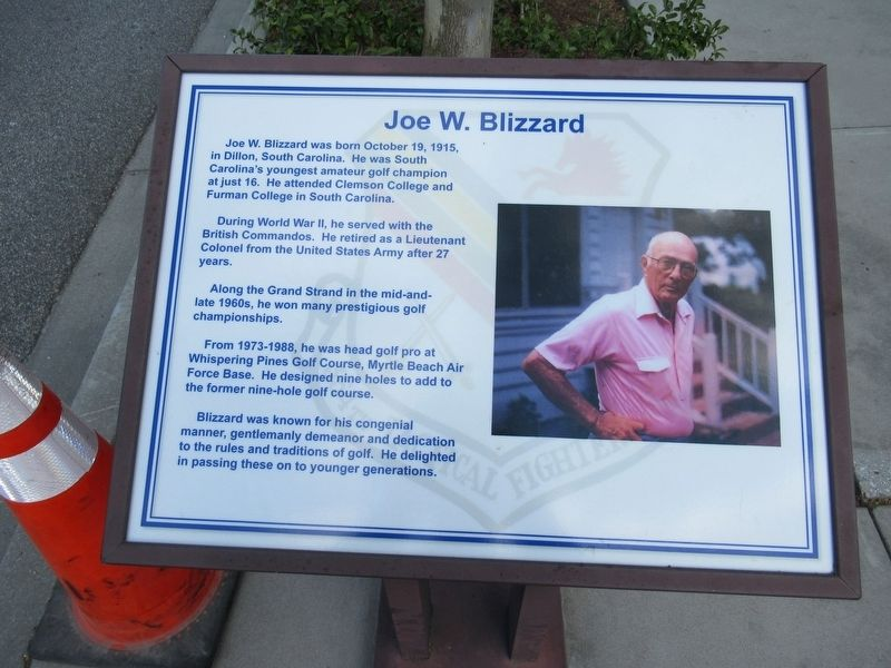 Joe W. Blizzard Marker image. Click for full size.