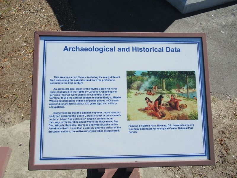 Archaeological and Historical Data Marker image. Click for full size.