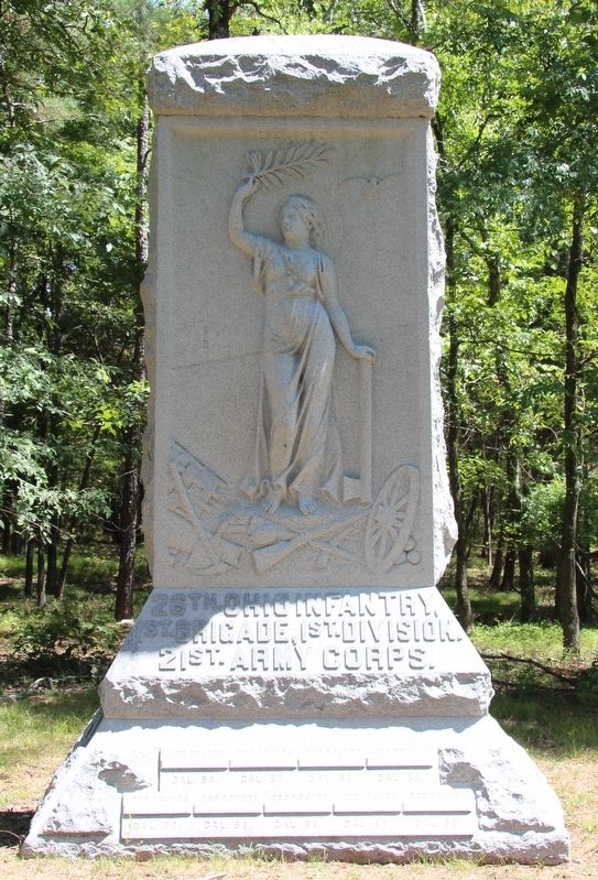 26th Ohio Infantry Marker image. Click for full size.