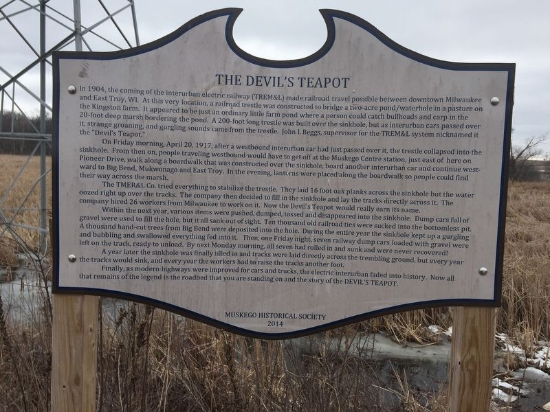 The Devil's Teapot Marker image. Click for full size.