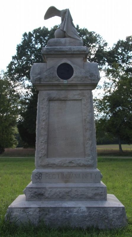 58th Indiana Infantry Marker image. Click for full size.