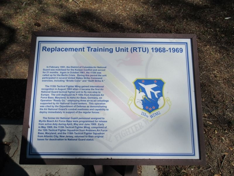 Replacement Training Unit (RTU) 1968-1969 Marker image. Click for full size.