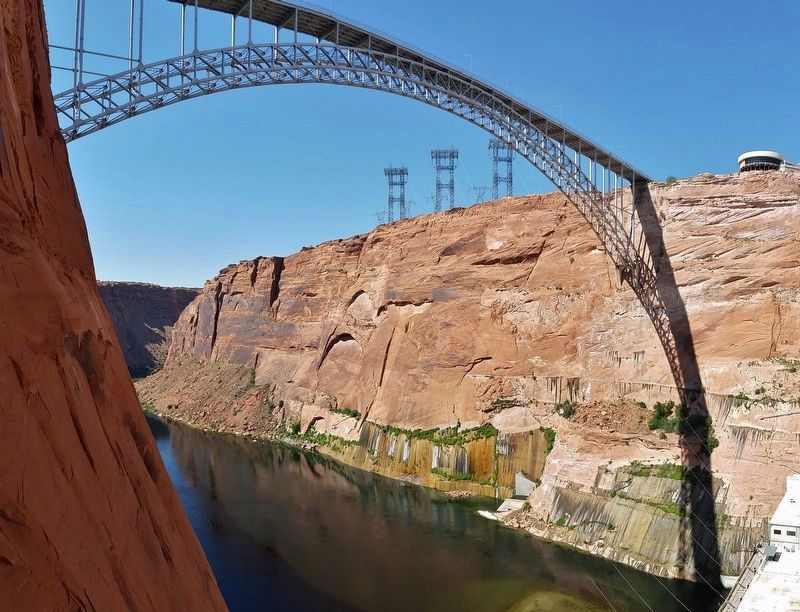 Glen Canyon Bridge (<b><i>east canyon view</b></i>) image. Click for full size.
