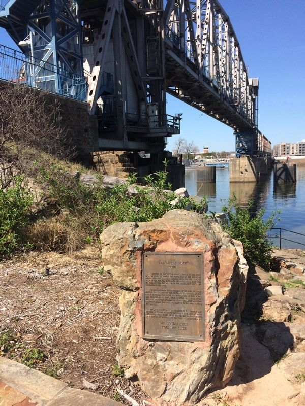 "Site of the ""Little Rock"" Marker image. Click for full size."