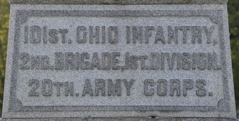 101st Ohio Infantry Marker image. Click for full size.
