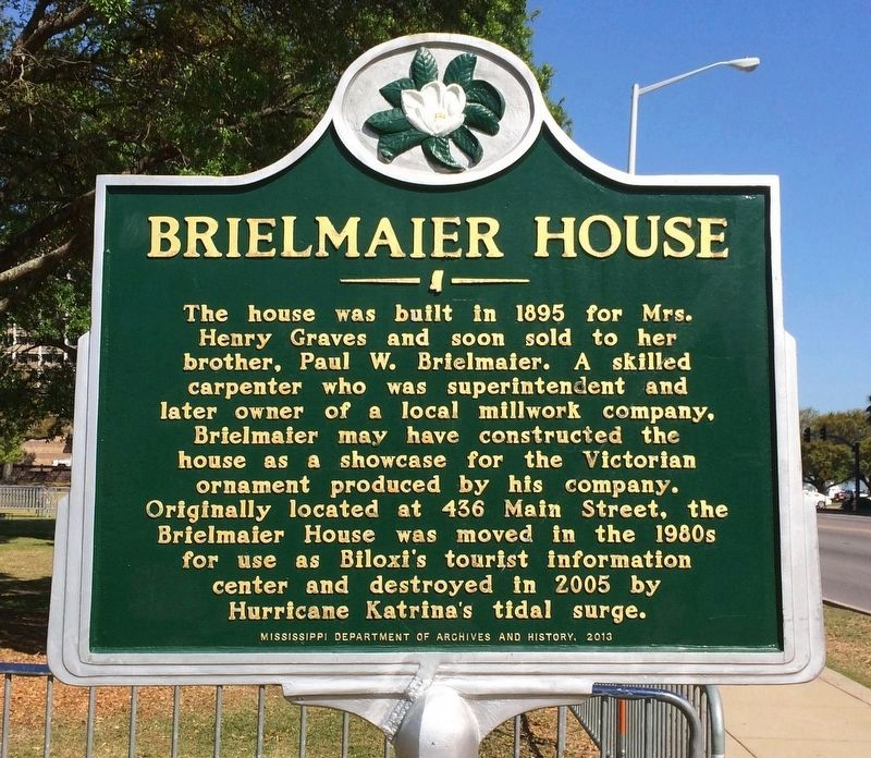 Brielmaier House Marker (Front) image. Click for full size.
