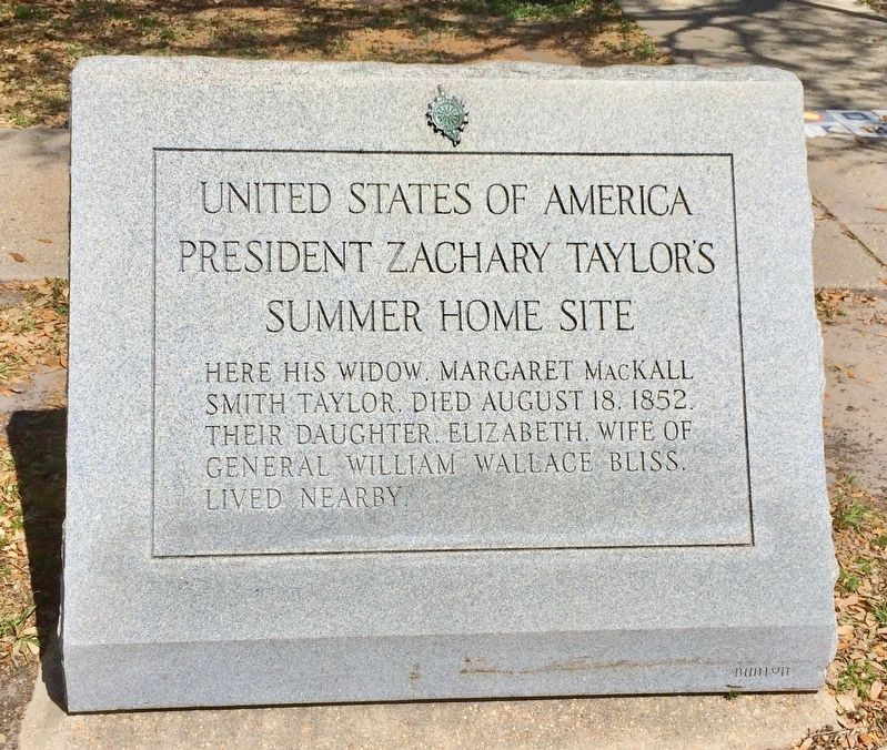 President Zachary Taylor's Summer Home Site Marker image. Click for full size.