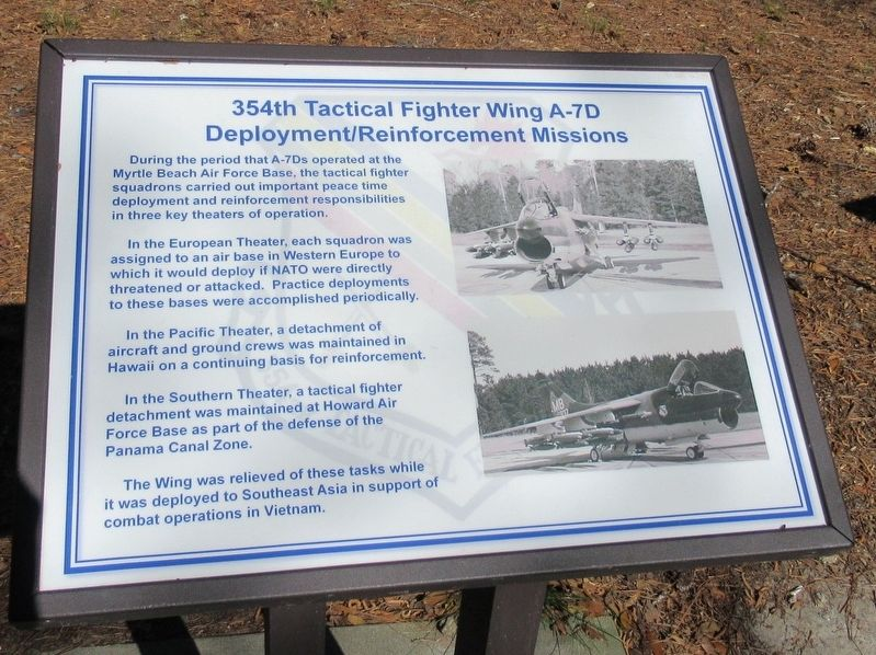 354th Tactical Fighter Wing A-7D Marker image. Click for full size.